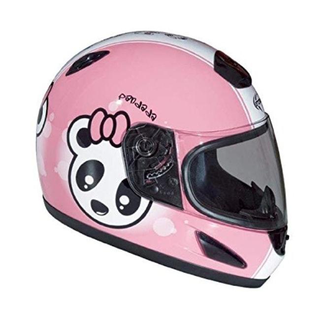 t 39 en as dans la t te casque moto fille motif panda rose. Black Bedroom Furniture Sets. Home Design Ideas