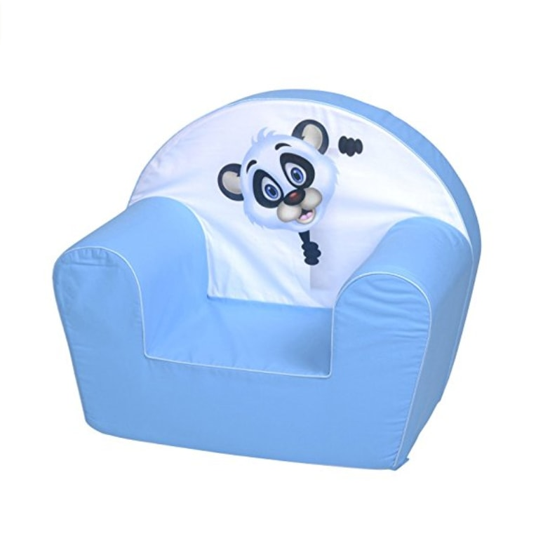salon priv panda cute fauteuil pour enfant panda bleu. Black Bedroom Furniture Sets. Home Design Ideas