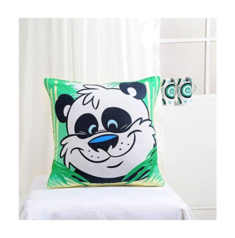 baloo le panda coussin de d coration panda style cartoon kawaii vert. Black Bedroom Furniture Sets. Home Design Ideas