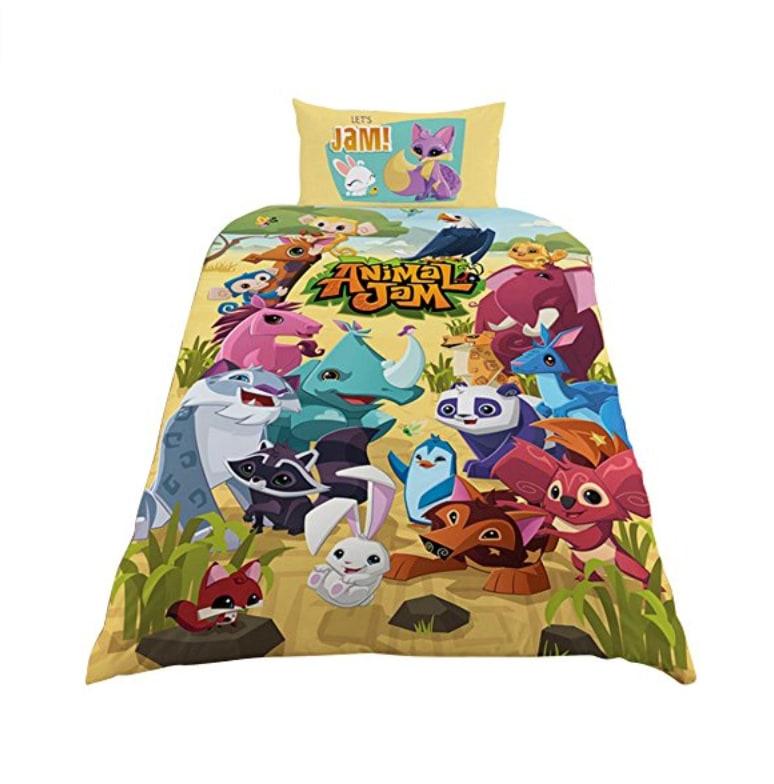 y 39 a du monde dans le lit parure de lit enfant panda et animaux en folis. Black Bedroom Furniture Sets. Home Design Ideas