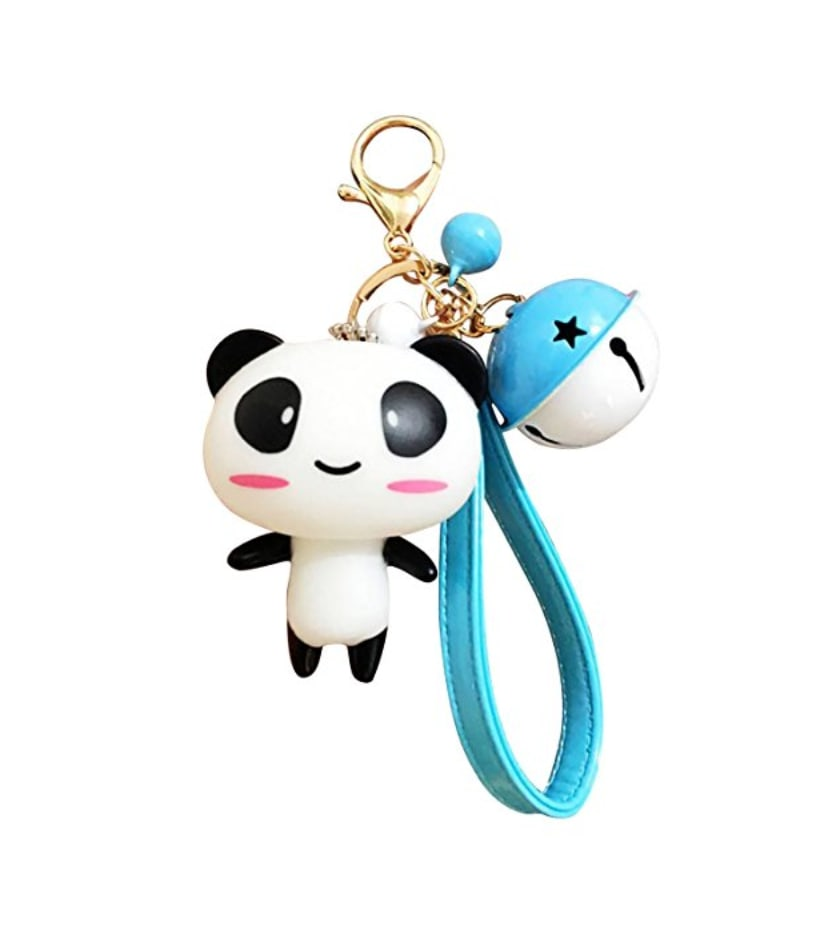 la f e panda bijoux de t l phone portable kawaii panda et grelot bleu. Black Bedroom Furniture Sets. Home Design Ideas